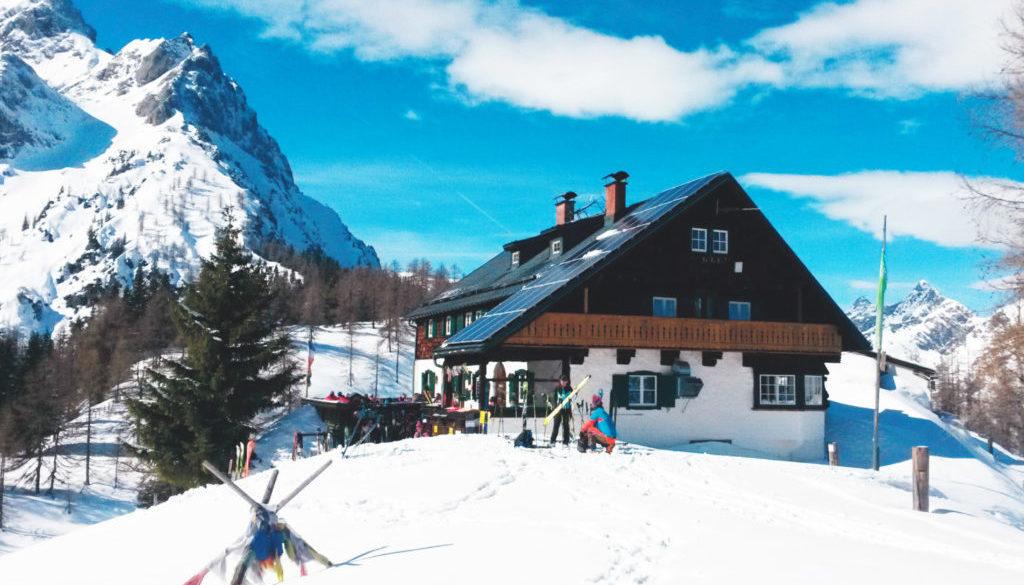 Ostpreußenhütte im Winter